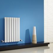 "Sloane - White Horizontal Single Flat-Panel Designer Radiator - 25"" x 16.5"""