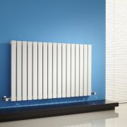 "Sloane - White Horizontal Single Flat-Panel Designer Radiator - 25"" x 39.25"""