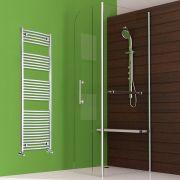 "Etna - Hydronic Chrome Heated Towel Warmer - 70.75"" x 23.5"""