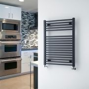 "Loa - Hydronic Anthracite Heated Towel Warmer - 31.5"" x 23.5"""