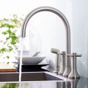 Tec Widespread Kitchen Faucet with Side Spray