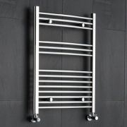 "Linosa - Hydronic Chrome Heated Towel Warmer - 31.5"" x 23.5"""