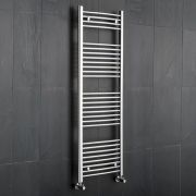 "Linosa - Hydronic Chrome Heated Towel Warmer - 59"" x 23.5"""