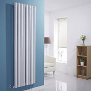 "Edifice - White Vertical Single-Panel Designer Radiator - 70"" x 22"""