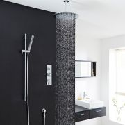 "Tec Thermostatic Shower System with 12"" Head & Ceiling Arm & Handset"