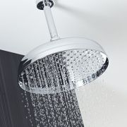 "12"" Apron Shower Head with Round Ceiling Arm"
