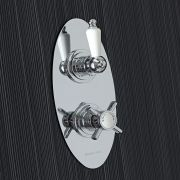 Beaumont Concealed 1 Outlet Twin Thermostatic Shower Valve (Oval Plate)