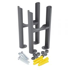 Anthracite 3-Column Traditional Radiator Mounting Feet