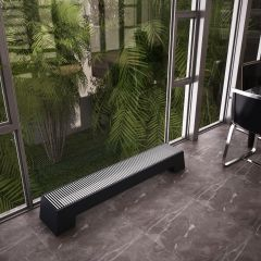 Hudson Reed Adva - Anthracite Double Panel Low Level Convector Radiator - 200mm x 1600mm