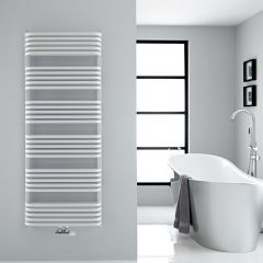 "Arch - White Hydronic Heated Towel Warmer - 60.25"" x 23.5"""