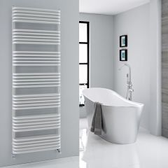 "Arch - White Hydronic Heated Towel Warmer - 70.75"" x 23.5"""