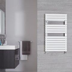 "Seina - Mineral White Hydronic Designer Towel Warmer - 37.5"" x 21.75"""