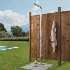 Shower panels shower panel towers thermostatic shower for Outdoor shower tower