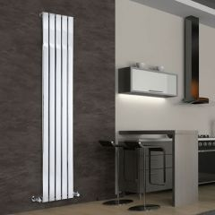 "Delta - Chrome Vertical Single Slim-Panel Designer Radiator - 70.75"" x 14.75"""