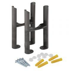 Raw Metal Floor Mounting Kit for 3-Column Traditional Radiators