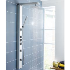 Thermostatic Shower Panel Tower System with Over Head Shower, Handheld and Body Sprays