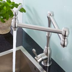 Single Hole Retractable Kitchen Faucet