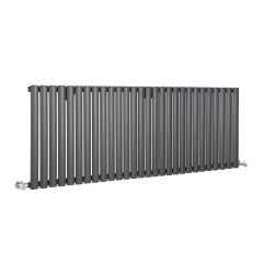 "Revive - Anthracite Horizontal Single-Panel Designer Radiator - 25"" x 64.75"""