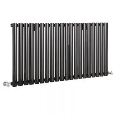 "Revive - Black Horizontal Single-Panel Designer Radiator - 25"" x 46.5"""