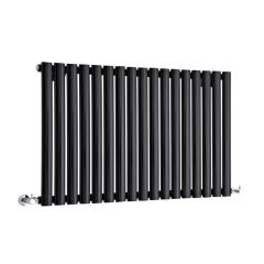 "Revive - Black Horizontal Single-Panel Designer Radiator - 25"" x 39.25"""