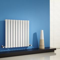 "Sloane - White Horizontal Single Flat-Panel Designer Radiator - 25"" x 23.5"""