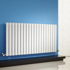 "Sloane - White Horizontal Single Flat-Panel Designer Radiator - 25"" x 46.5"""