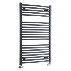 """Loa - Hydronic Anthracite Heated Towel Warmer - 39.25"""" x 23.5"""""""