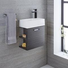 Langley - 16'' Gray Wall-Mount Bathroom Vanity