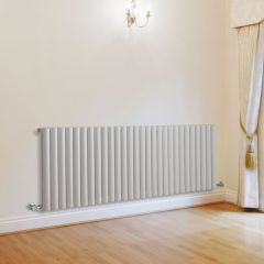"Revive - White Horizontal Single-Panel Designer Radiator - 25"" x 64.75"""