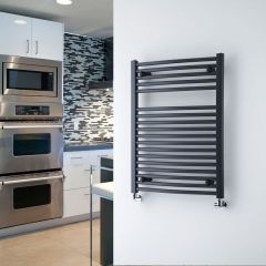 """Loa - Hydronic Anthracite Heated Towel Warmer - 31.5"""" x 23.5"""""""