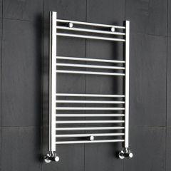 "Linosa - Chrome Hydronic Heated Towel Warmer - 31.5"" x 19.75"""