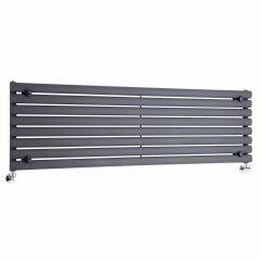 "Revive - Anthracite Horizontal Single-Panel Designer Radiator - 18.5"" x 63"""