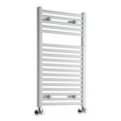 "Etna - Hydronic White Heated Towel Warmer - 31.5"" x 19.75"""