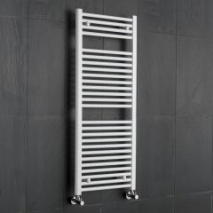 "Etna - Hydronic White Heated Towel Warmer - 47.25"" x 19.75"""