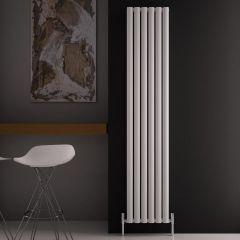 "Revive Air - White Aluminum Vertical Double-Panel Designer Radiator - 70.75"" x 13.75"""