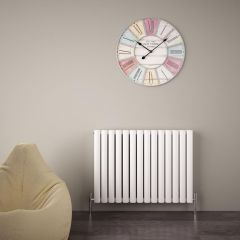"Revive Air - White Aluminum Horizontal Double-Panel Designer Radiator - 23.5"" x 32.75"""