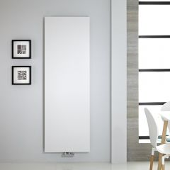 "Vivara - White Vertical Flat-Panel Designer Radiator - 70.75"" x 23.5"""