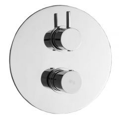 Clio Twin Concealed Thermostatic Shower With Diverter 2 Outlets