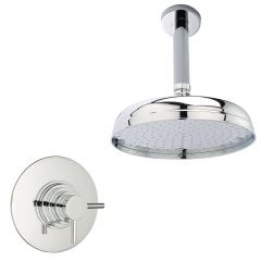 Concealed Shower System with Apron Style Chrome Head, Sequential Valve