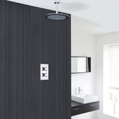 "Kristal Thermostatic 1 Outlet Shower System with 12"" Ceiling Head"