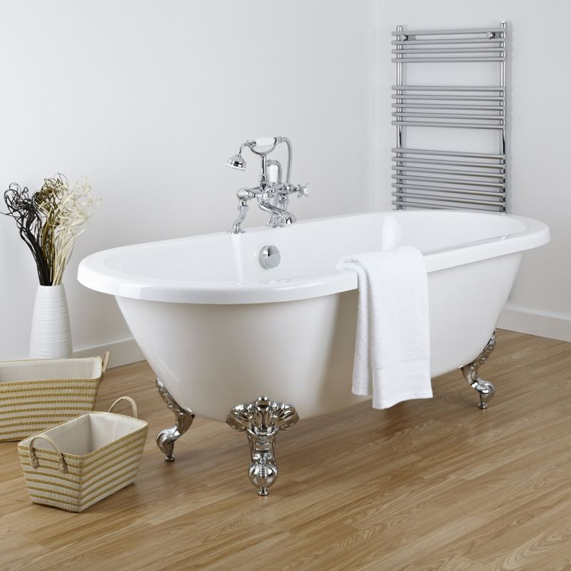 Acrylic Double Ended Freestanding Flat Top Bath Tub 70\