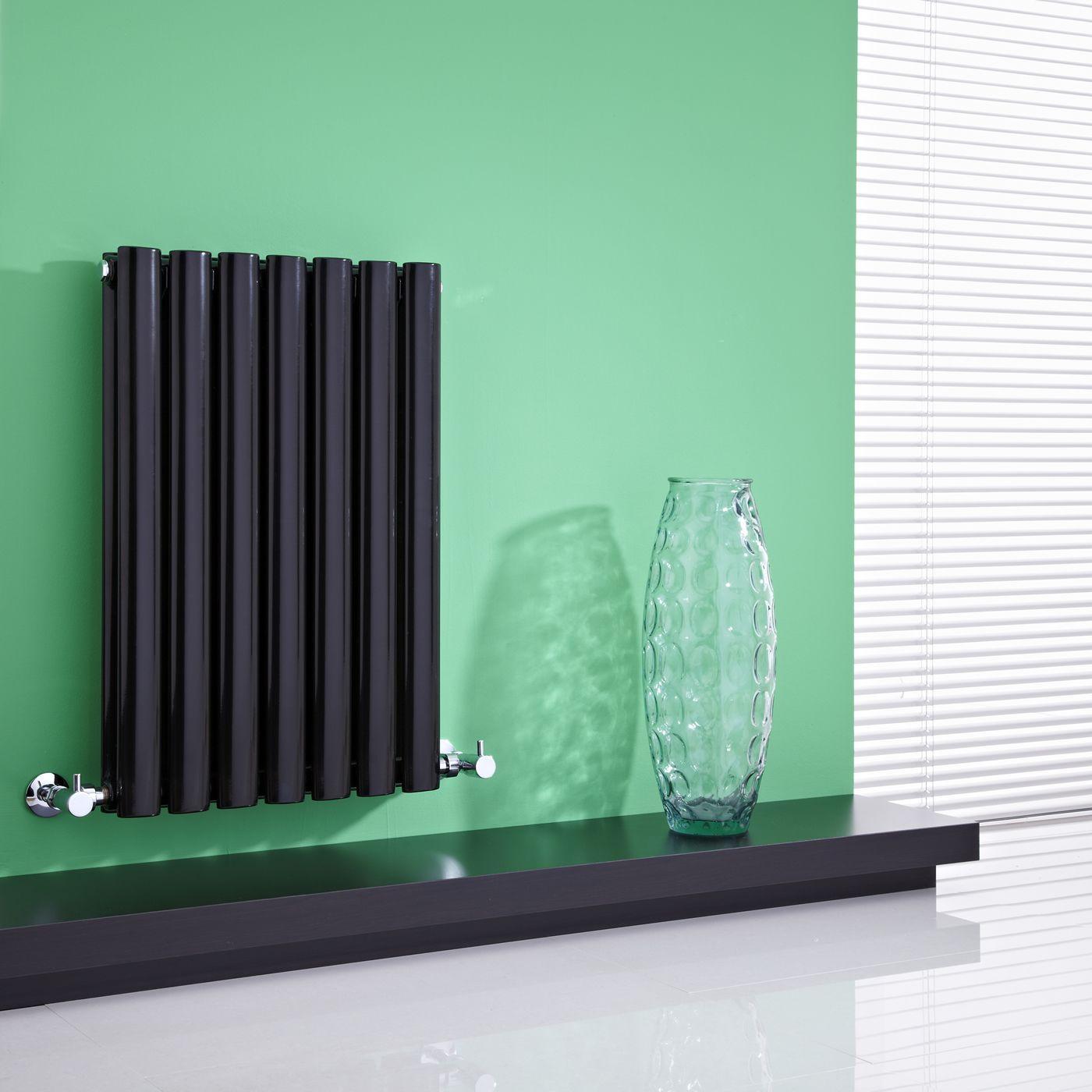 Revive - Black Horizontal Double-Panel Designer Radiator - 25\