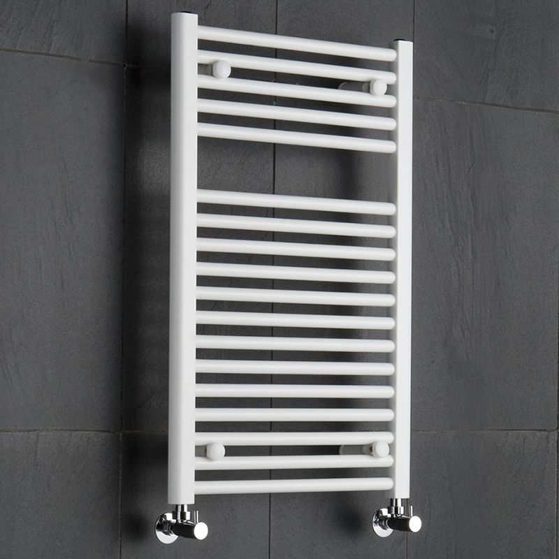 Etna Hydronic White Heated Towel Warmer 315 x 1975