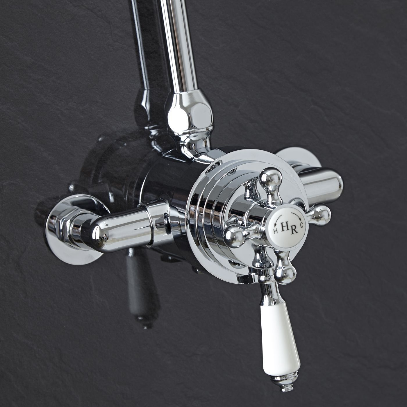 Exposed Traditional Thermostatic Dual Control Shower Faucet Valve ...