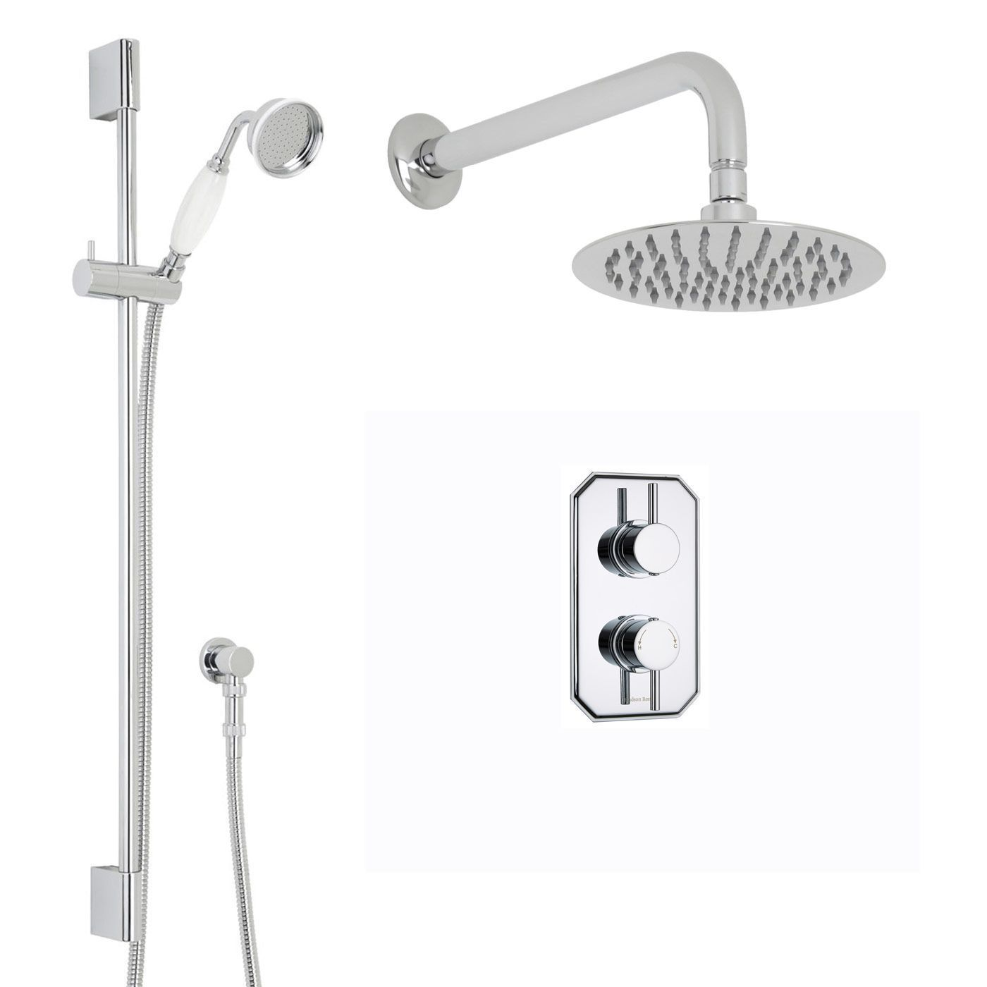 Quest Thermostatic 2 Outlet Shower System with 8\