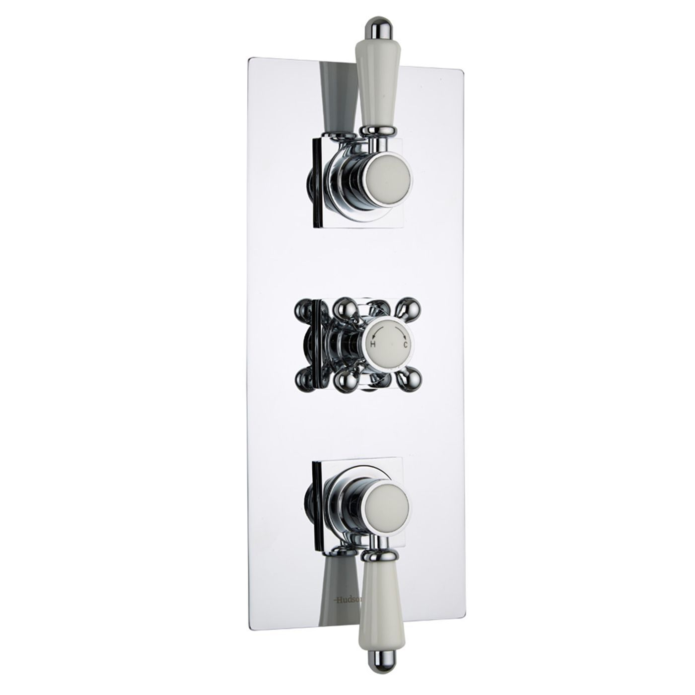 Traditional Concealed 2 Outlet Triple Thermostatic Shower Valve ...
