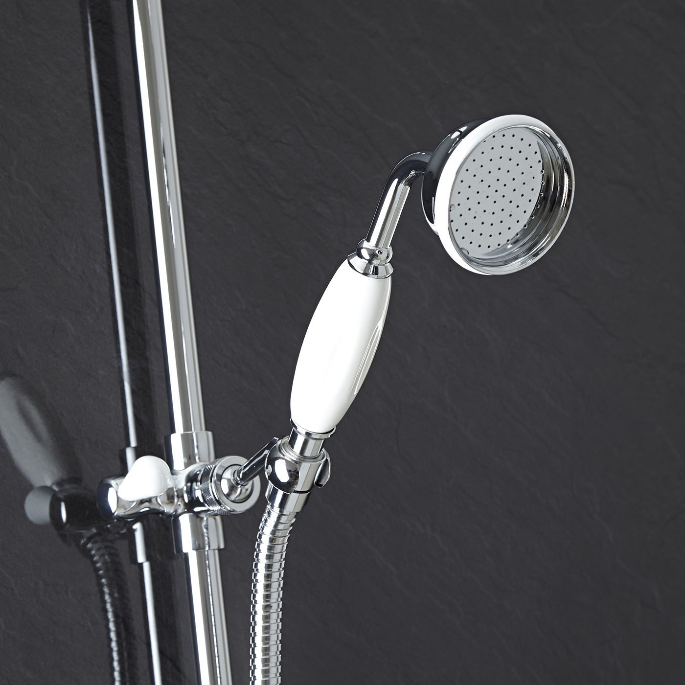 Traditional Triple Exposed Thermostatic Shower Valve with Luxury ...