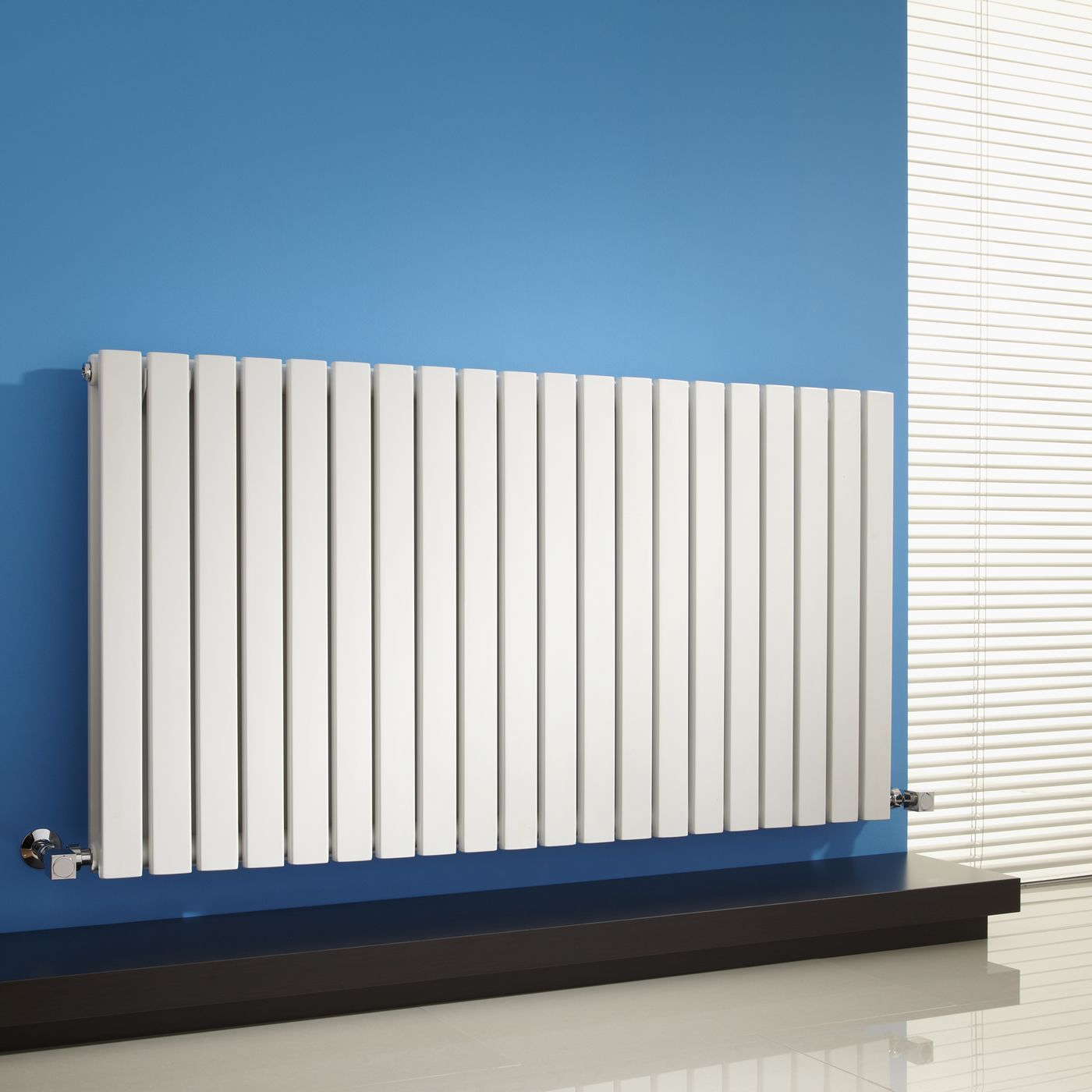 Sloane - White Horizontal Double Flat-Panel Designer Radiator - 25 ...