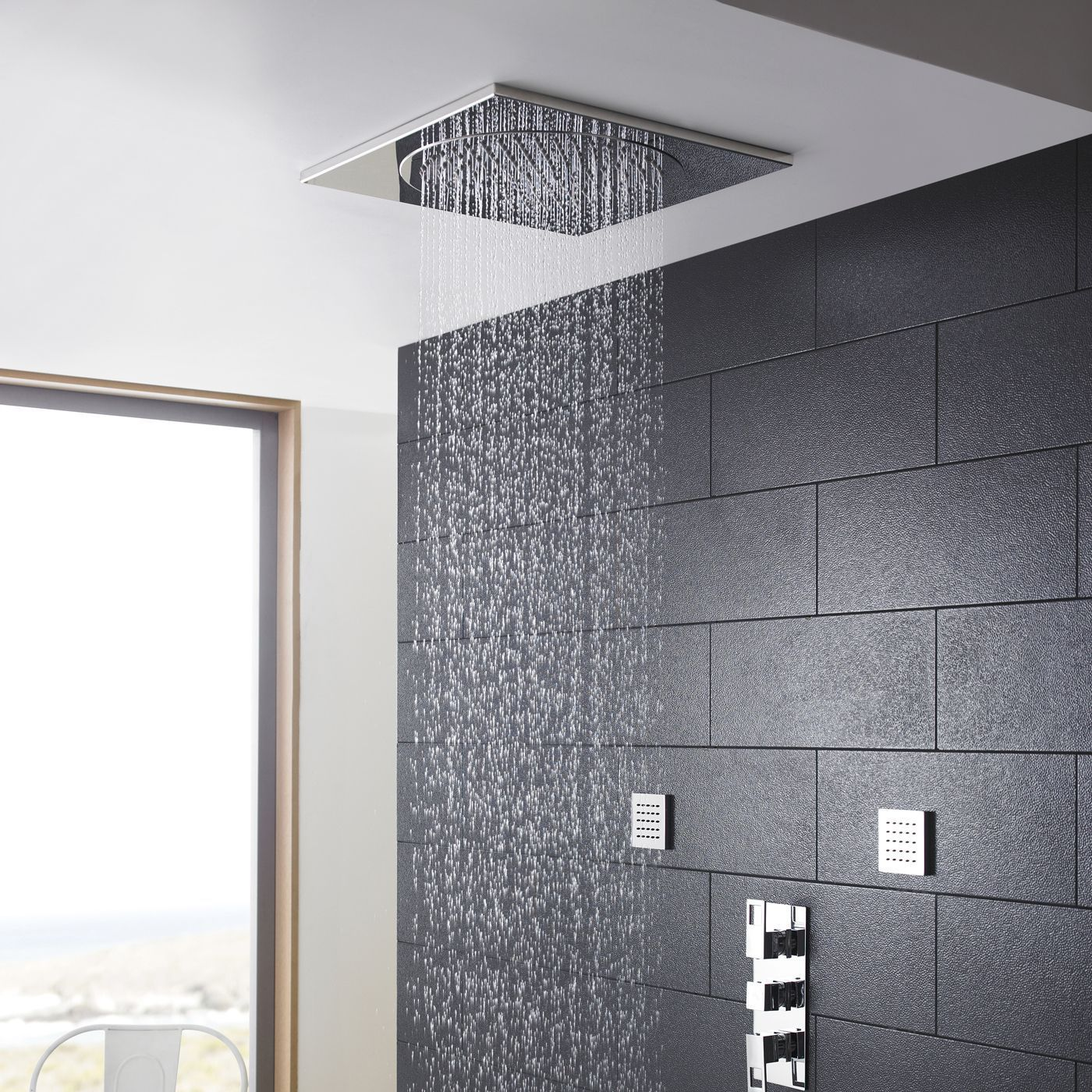 Ceiling tile shower head 20 dailygadgetfo Image collections