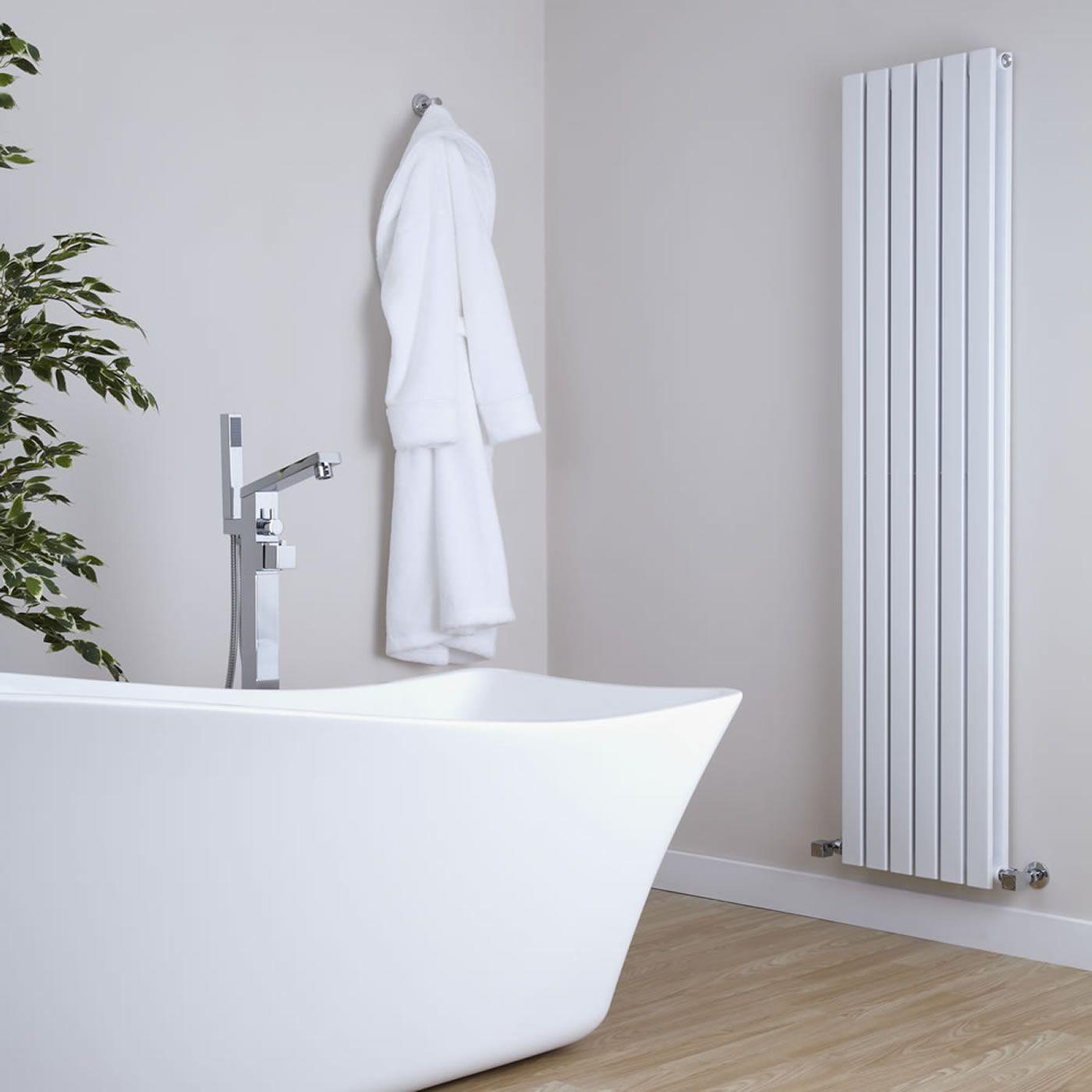 Sloane - White Vertical Double Flat-Panel Designer Radiator - 70\